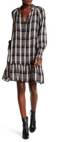 Free People Split V-Neck Plaid Dress