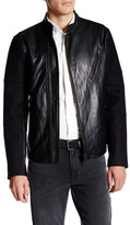 Vince Genuine Leather Melton Jacket
