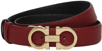 Salvatore Ferragamo 2.5cm Reversible Leather Belt