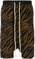 Yuiki Shimoji drawstring tiger print shorts