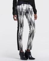 Derek Lam 10 Crosby Abstract-Print Side-Stripe Pants