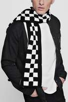 boohoo Checkerboard Oversized Football Scarf
