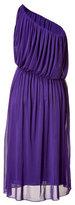 Halston Purple One Shoulder Dress