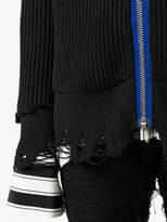 Haider Ackermann distressed zip cardigan