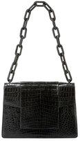 Nancy Gonzalez Crocodile Flap-Top Chain Shoulder Bag