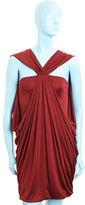 Draped Mini Dress- Burgundy