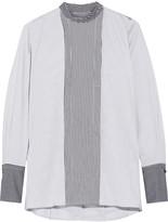 Rosetta Getty Striped cotton-blend poplin top
