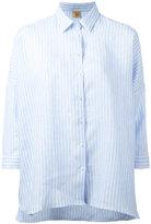 Fay woven stripe shirt - women - Linen/Flax - M