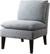 The Well Appointed House Gray Linen Armless Chair