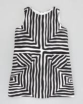 Milly Minis Pocket Shift Dress, Black/White, Sizes 2-6