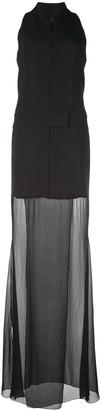 Nicole Miller Sheer Hem Dress
