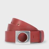 Paul Smith Women's Red Leather 'Gordon' Belt