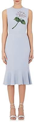 Dolce & Gabbana Women's Embellished Crepe Sheath Dress - Lt. Blue