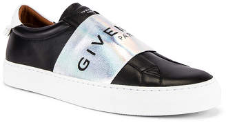 Givenchy Urban Street Elastic Sneakers in Black & White | FWRD