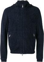 Desa 1972 - zipped hooded jacket - men - Suede - 46