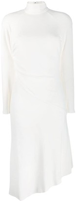 Tom Ford high-neck asymmetric midi dress