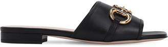 Gucci 10mm Deva Leather Sandals