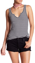 Privacy Please Cicely Striped Split Neck Tank