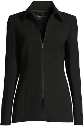 Lafayette 148 New York Aretha Zip-Front Crepe Jacket