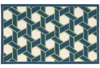 "Waverly Fancy Free & Easy ""Shoji"" Hand-Tufted Blue/Green Area Rug"