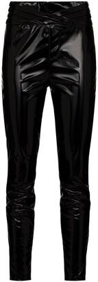 RtA Kyle high-waist faux-leather leggings
