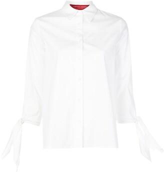 Carolina Herrera Tie-Sleeve Button-Down Shirt