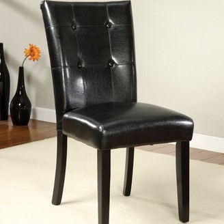 Hokku Designs Parker Tufted Upholstered Dining Chair in Black