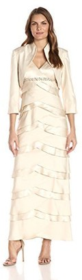 Jessica Howard Women's Jacket Dress with Beaded Detail at Waist