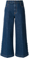 Stella McCartney coulotte flared jeans - women - Cotton/Spandex/Elastane - 24