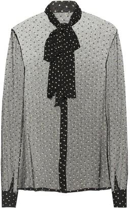 Saint Laurent Star-printed silk shirt