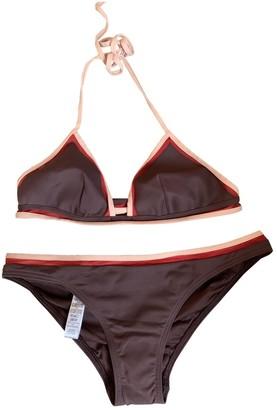 La Perla Burgundy Lycra Swimwear for Women