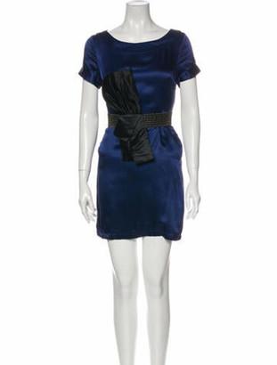 Marc Jacobs Silk Mini Dress Blue