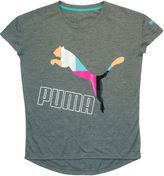 Puma Short-Sleeve Drop-Tail Tee - Girls 7-16