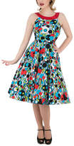 HEARTS & ROSES LONDON Women's Special Occasion Dresses Blue/Bubbles - Turquoise & Red A-Line Dress - Women