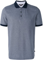 Michael Kors grid pattern polo shirt - men - Cotton - XL