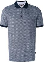 Michael Kors grid pattern polo shirt