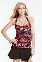 Classic Women's Beach Club Tankini Swimsuit Top-Purple Wildflower Tattersall