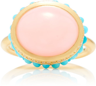 Irene Neuwirth 18K Gold, Opal And Turquoise Ring