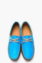 Marc Jacobs Blue & Tan Leather Fabbri Moccasins