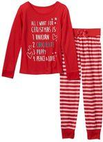 Girls 4-16 SO® Christmas Pajama Set