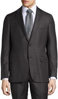 Hickey Freeman Classic-Fit Two-Button Suit, Gray