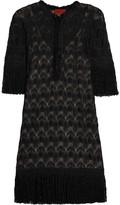 Missoni Fringed crochet-knit dress