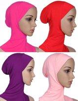GladThink Womens Muslim Mini Hijab Caps Islamic Scarf 4 Pieces Set No.2