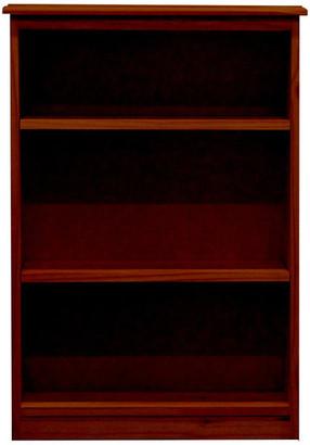 Gothic Furniture York Bookcase, 11_x25x36, Pine Wood, Antique Cherry