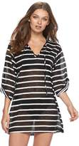 Apt. 9 Women's Hooded Striped Cover-Up