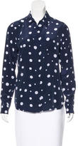 Equipment Polka Dot Silk Top