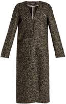 Rochas V-neck wool-blend bouclé coat