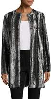 T Tahari Women's Jenna Crewneck Coat