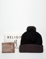 Religion Hat and Wallet Gift Set