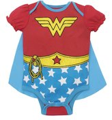 Warner Bros. Wonder Woman Baby Girls' Costume Onesie with Cape, (12-18 Months)